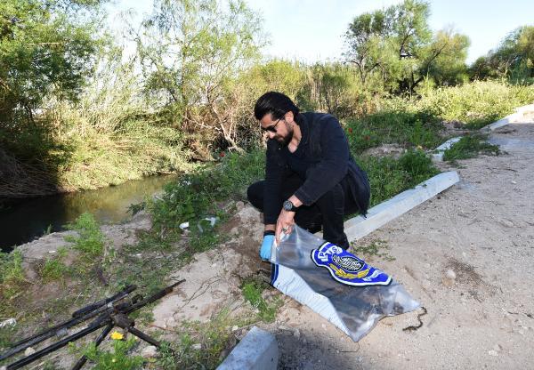 Antalya'da derede çok sayıda tüfek namlusu bulundu