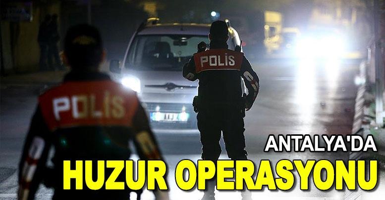 Antalya'da güvenlik operasyonu