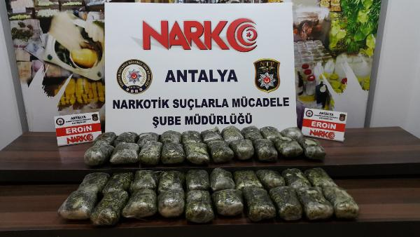 Antalya'da 21 kilo 360 gram eroin ele geçirildi