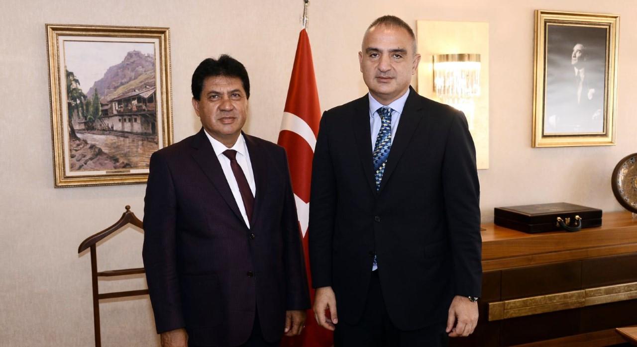 Başkan Gül'den Kültür ve Turizm Bakanı Ersoy'a ziyaret