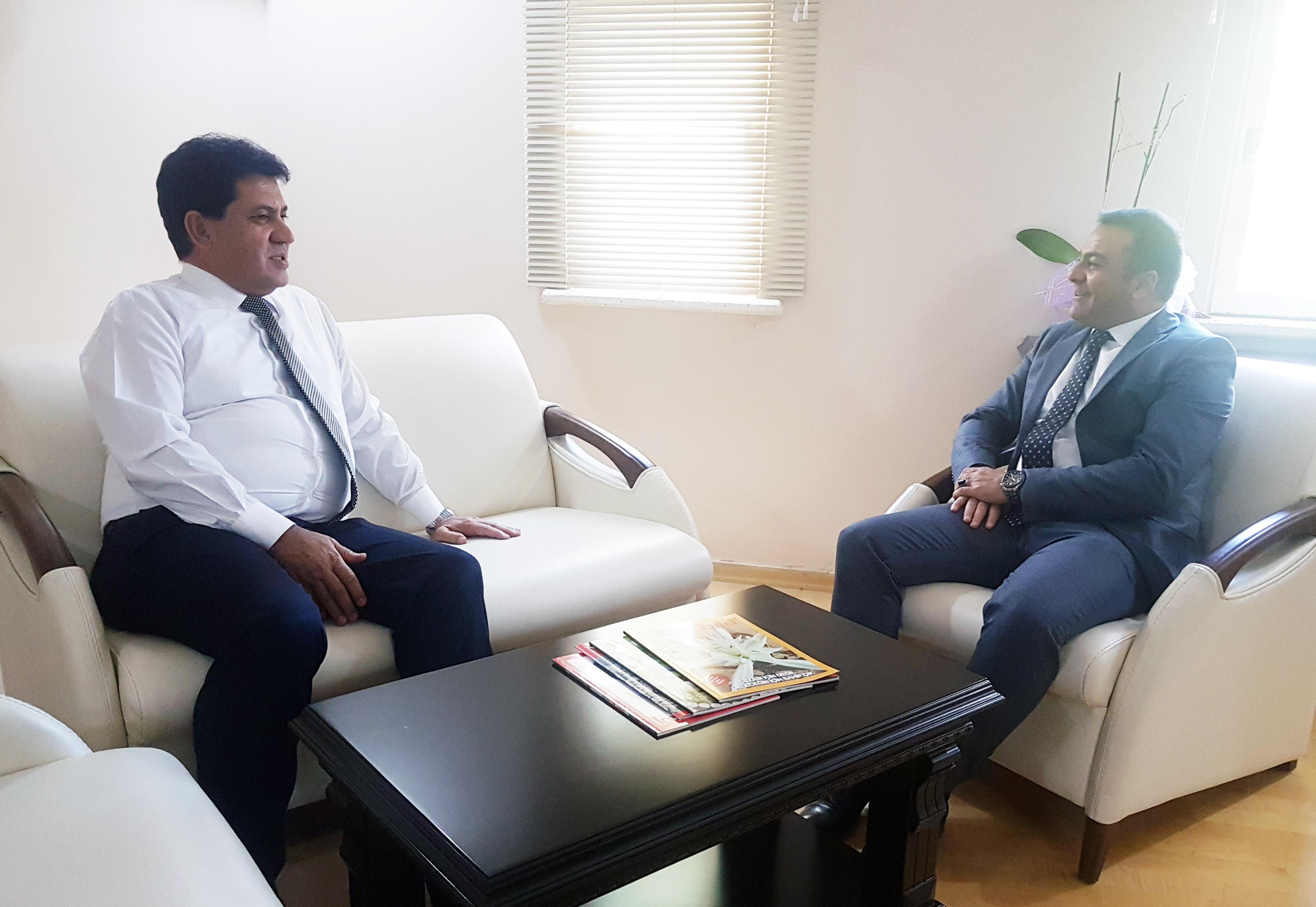 Başkan Gül'den Kaymakam Yaşar'a ziyaret