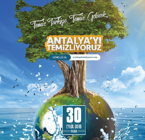 100 bin gönüllü, 30 Eylül'de Antalya'yı temizleyecek