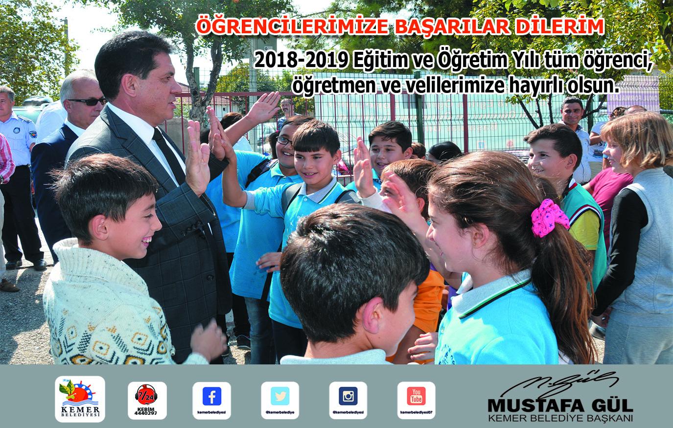 Başkan Gül öğrencilere başarılar diledi