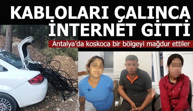Çıralı'yı internetsiz bırakan hırsızlar yakalandı