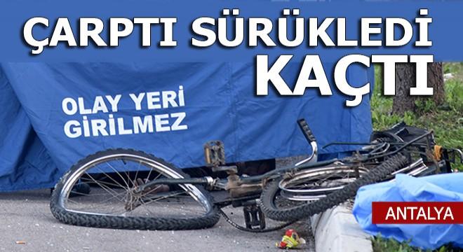 Antalya'da otomobille çarptı, sürükledi, kaçtı