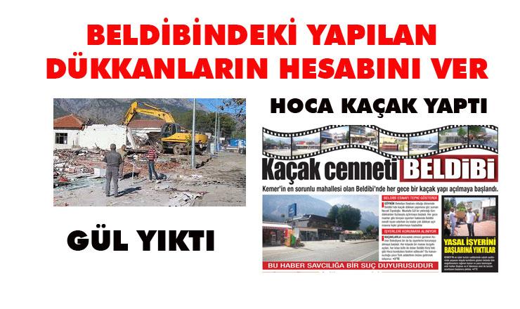 """GÜL """"HOCA TOKİ yi BIRAK  BELDİBİNDE YAPILAN DÜKKANLARIN HESABINI VERSİN"""""""