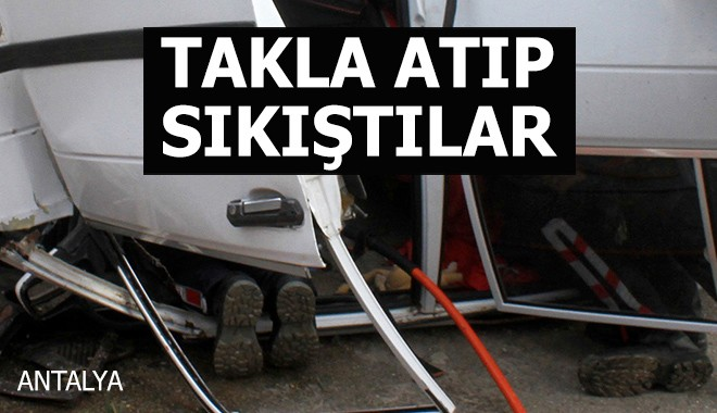 Antalya'da kaza: 1'i ağır 3 yaralı