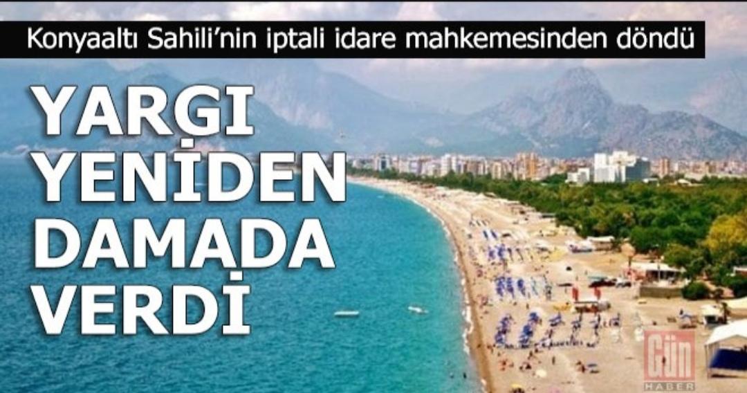Sahil Antalya ihalesinin iptalini yargı durdurdu