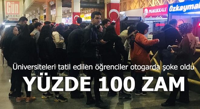 Okulları tatil edilen öğrenciler Antalya Otogarı'na koştu ama…
