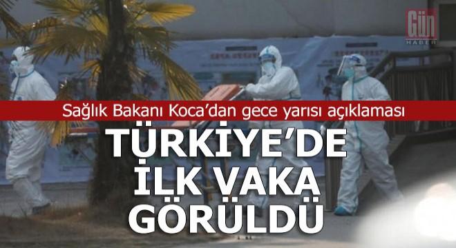 Türkiye'deki ilk koronavirüs tespit edildi
