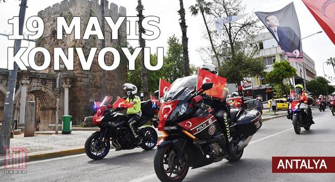 Antalya'da polisten 19 Mayıs konvoyu