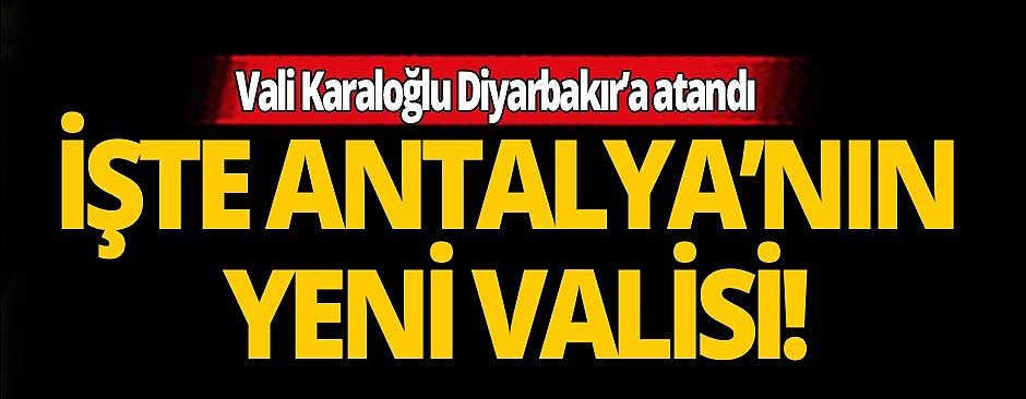 2020 Valiler Kararnamesi…Balıkesir Valisi Ersin Yazıcı Antalya Valisi olarak atandı.