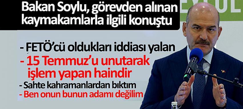 SOYLU 'BEN KİMSENİN ADAMI DEĞİLİM'
