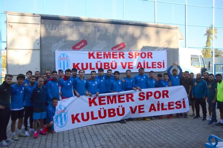 Kemerspor'dan, İzmir'e yardım kamyonu!