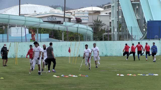 Ampute Milli Futbol Takımı  Kemer Daima Otelde  hazırlanıyor