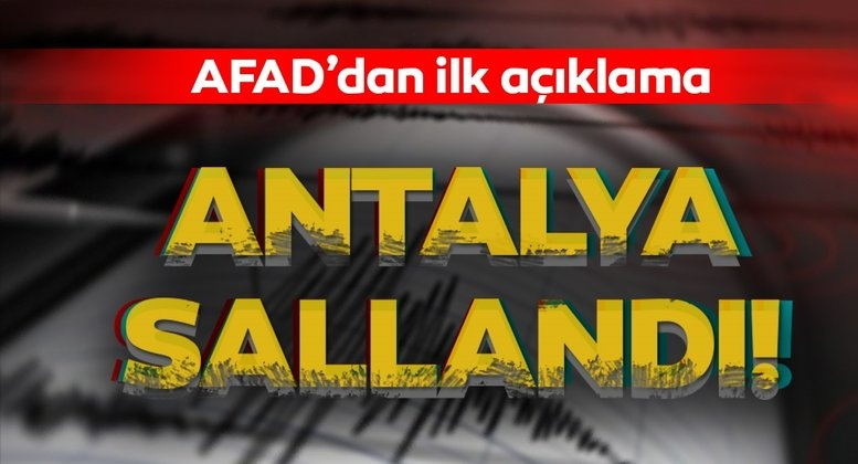 Antalya da Deprem 5.2 oldu