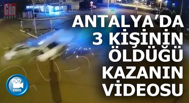 3 kişinin öldüğü,  kazanın kamera görüntüleri..