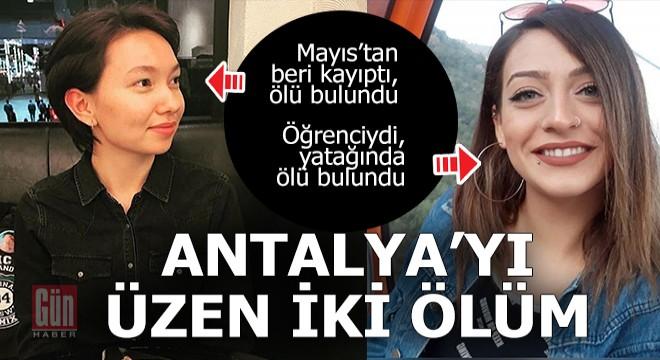 Antalya'yı üzen iki ölüm