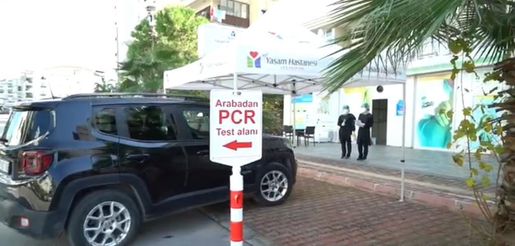 Yaşam Hastaneleri, aracınızdan inmeden PCR testi uygulamasına başladı!