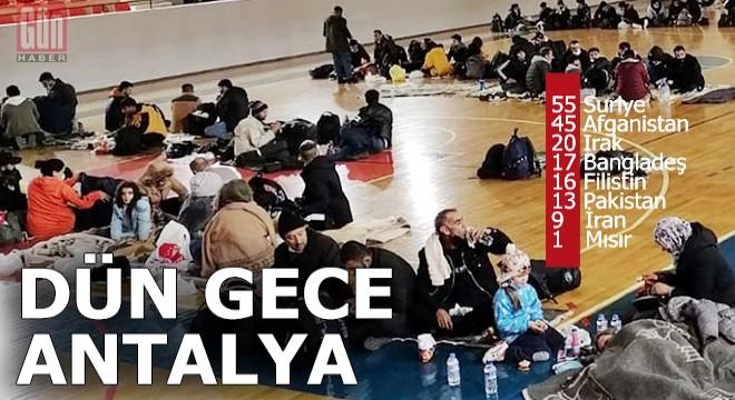 Turist beklerken Antalya'yı göçmenler bastı
