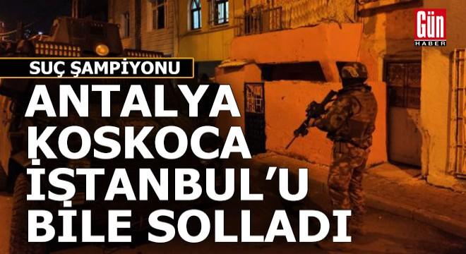 Antalya 'Suç' şampiyonu oldu