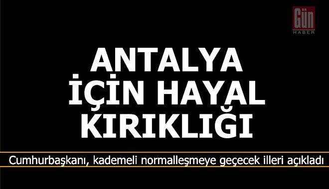 Antalya için hayal kırıklığı