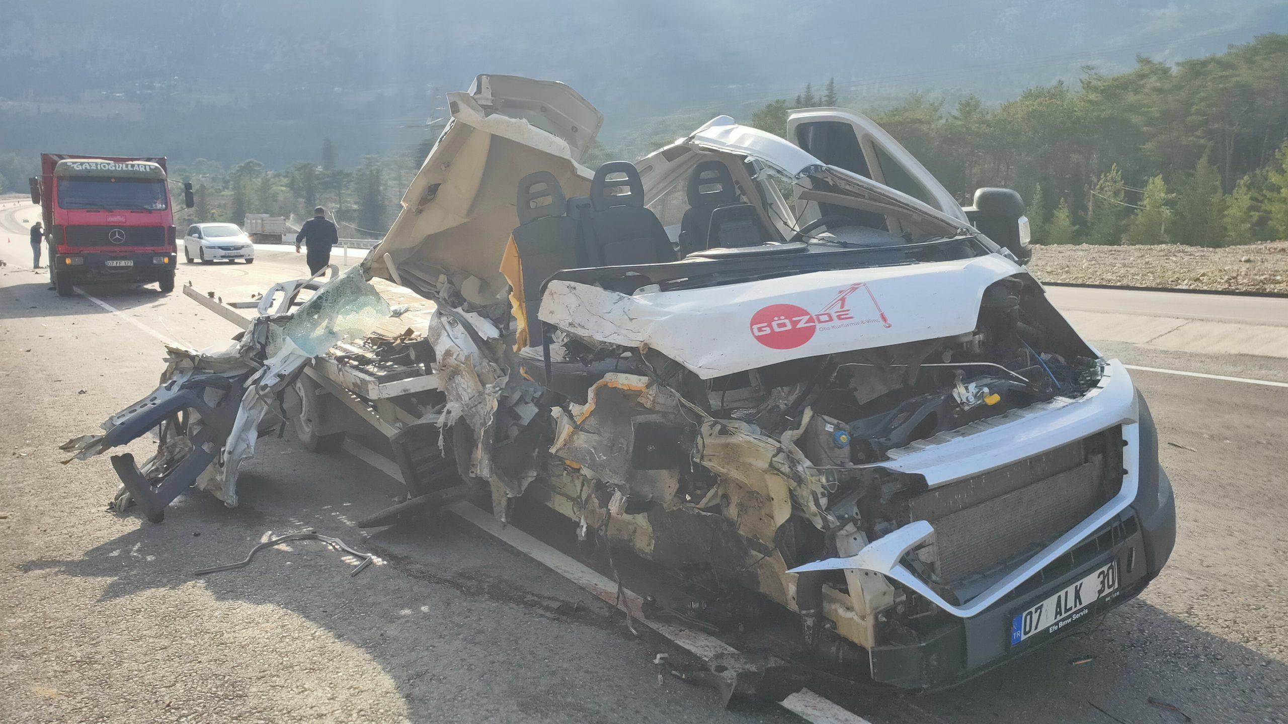 Ulupınar yolunda trafik kazası