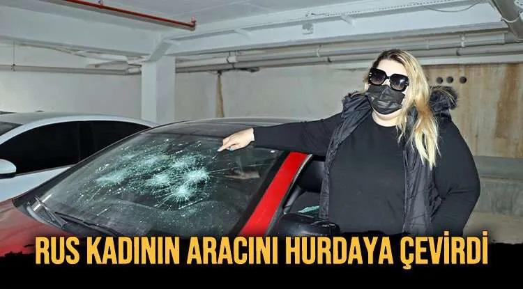 RUS KADININ ARACINI HURDAYA ÇEVİRDİ
