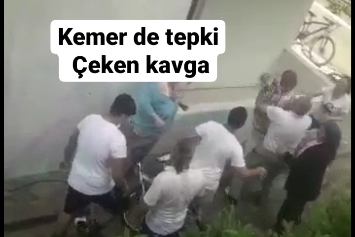 KEMERDE TEPKİ ÇEKEN KAVGA YAŞLI İNSANLARA SALDIRDILAR İDDASI