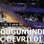 Antalya'da kır düğününde 'ağaç' devrildi: 1 ölü,9 yaralı