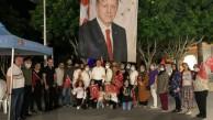 Kemer'de sabah ezanına kadar demokrasi nöbeti tutuldu