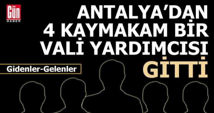 624 mülki idari amir yer değiştirdi, 5'i Antalya'dan