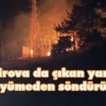 Tekirova da çıkan yangın büyümeden söndürüldü
