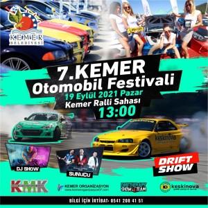 7. Kemer Otomobil Festivali'nin hazırlıkları tamamlandı.