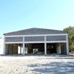 Kemer'de beton santrali ve kilitli taş fabrikasının yapım çalışmaları devam ediyor